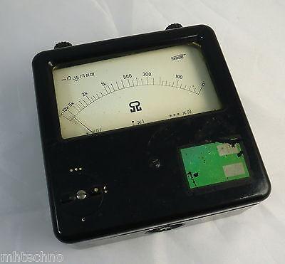 Ohmmeter, DDR,Zeigerinstrument, 3 Bereiche umschaltbar (x 0,1/x 1/ x 10)
