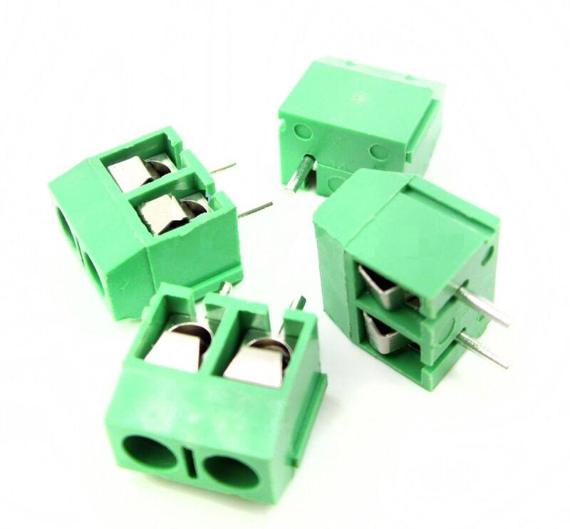 100PCS Green KF301-2P 2 Pin Plug-in Screw Terminal Block Connector 5.08mm
