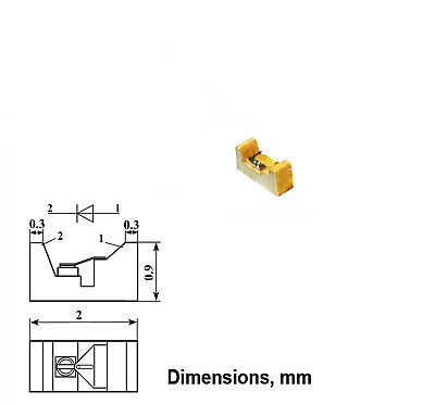 2 Pcs Schottky Varactor Diode Gaas 0.9 - 1.5pf 0.3 - 30ghz 3a619a Ussr