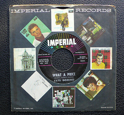 "7"" Fats Domino - What A Price/ Ain't That Just Like A Woman - US Imperial"