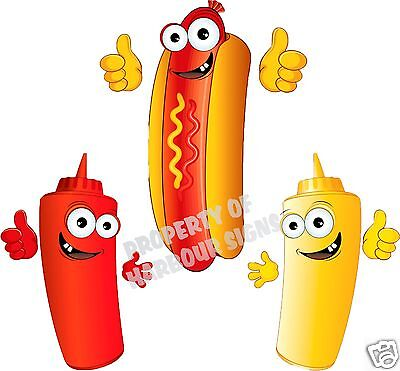 Hot Dog Decal 14 Hotdogs Restaurant Concession Trailer Food Truck Cart Sticker