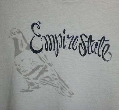 J Crew T-Shirt Medium Empire State Pigeon #2 of 9 Printed in NYC LIMITED EDITION