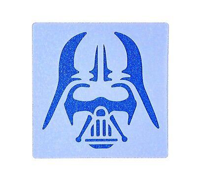 Darth Vader Design Tile Stencil 190 Micron Mylar Washable Reusable 10cm x 10cm ()