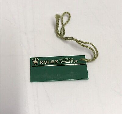ROLEX Vintage Green Tag Hangtag Oyster Swimpruf 1994 1995 W329537 Daytona Zenith