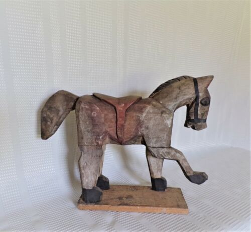 Vintage Primitive Carved Wooden Horse