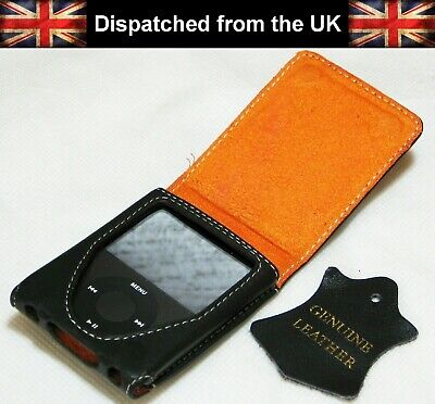 📱Quality Genuine Leather Flip-Case for Apple iPod Nano 3rd Generation 8gb 4gb📱 Apple Ipod Nano Flip Case