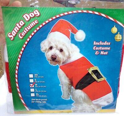 Santa Hund Halloween Weihnachten Kostüm M Hunde Haustier Neu Claus Medium ()