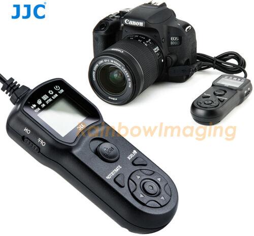 JJC Intervalometer Timer Remote Shutter Canon Rebel T6s T6 T5 SL2 T4i T3i T3