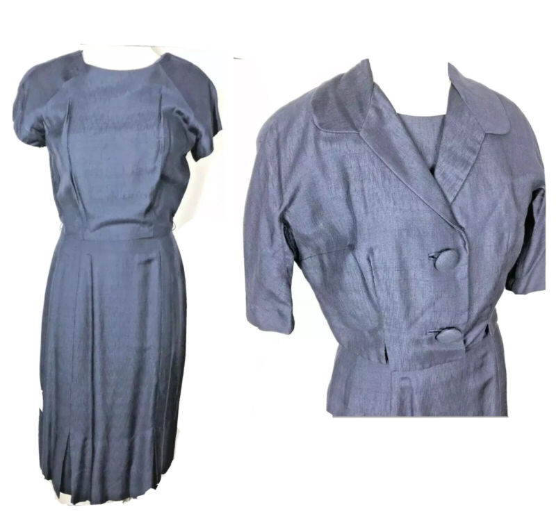 Vintage Pencil Dress Secretary Jacket 2 Pc Set Jackie O style
