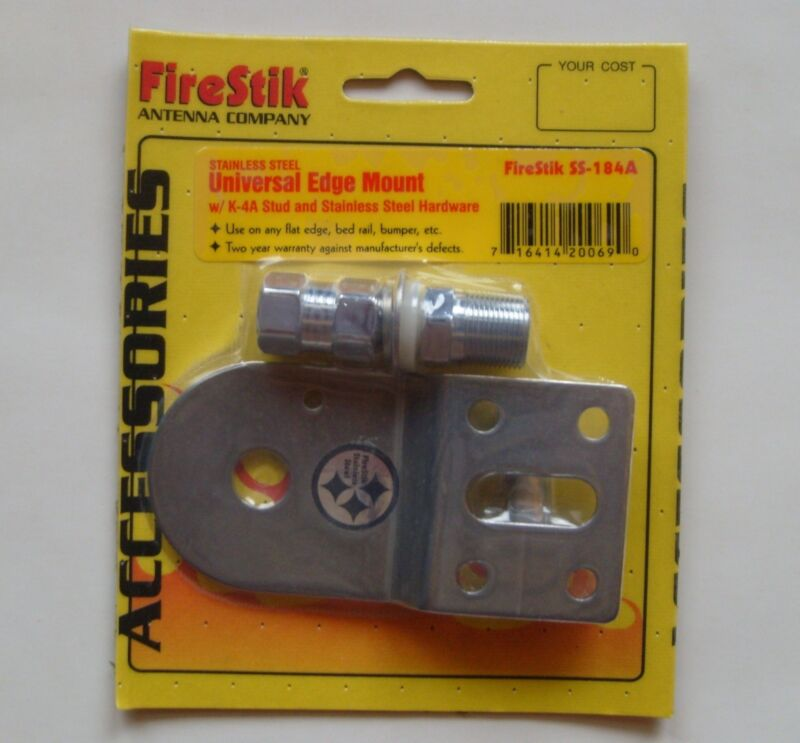 Firestik SS-184A Universal Edge Stainless Steel Mount for CB Antenna w K-4A Stud