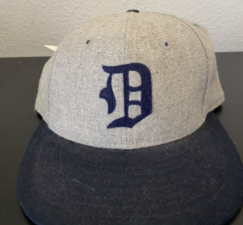New 1935 DETROIT TIGERS 100% Wool THROWBACK Baseball Cap Fitted Size 7 Hat