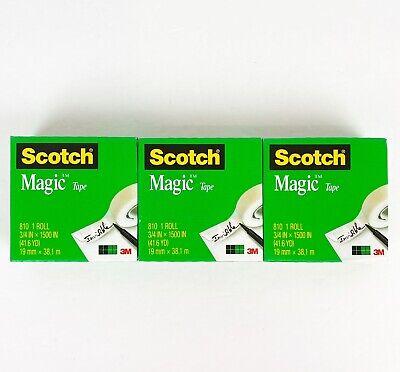 Scotch Magic Tape Refill 3 Jumbo Rolls 34 X 1500 Per Roll Original Photo Safe