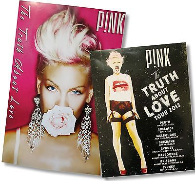 - PINK P!NK 2 PIECE CONCERT POSTER GIFT SET THE TRUTH ABOUT LOVE FLOWER