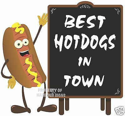 Best Hot Dogs In Town Decal 14 Hotdogs Concession Food Truck Cart Vinyl Sticker