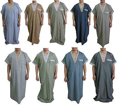 Men Thobe Thoub Abaya Robe Juba Qamis Daffah Dishdasha Islamic Arab Kaftan  398