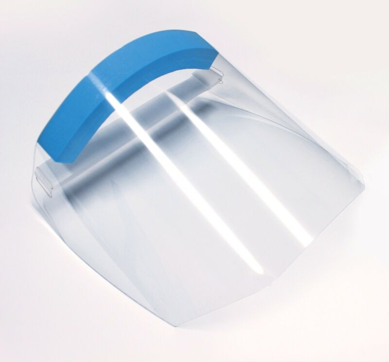 Clear Transparent Adjustable Full Face Shield Plastic Protective Equipment