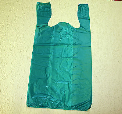 Plastic T-Shirt Bags with Handles You Pick Lot & Colors & Size on Rummage