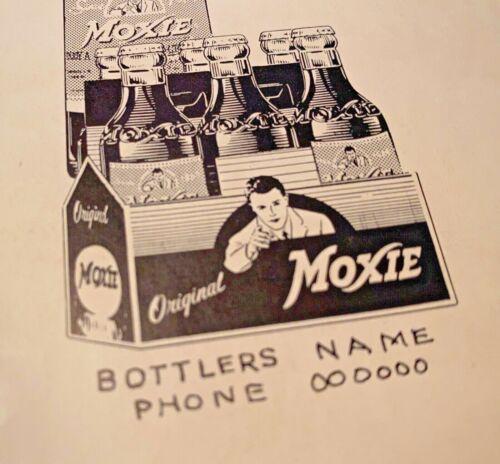 Moxie 1950s Black & White Newspaper Print Proof Ad Paper Allan Petretti