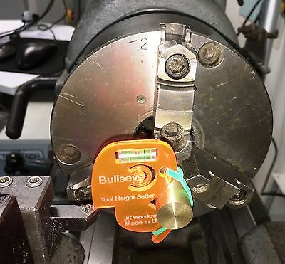 Metal Lathe Tool Height Setter--truly Hands-free Version--bit Center Finder