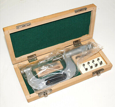 Perfect Vis 2-3 Thread Micrometer With 3-24 Tpi Anvil Set. Sealed New Old Stock