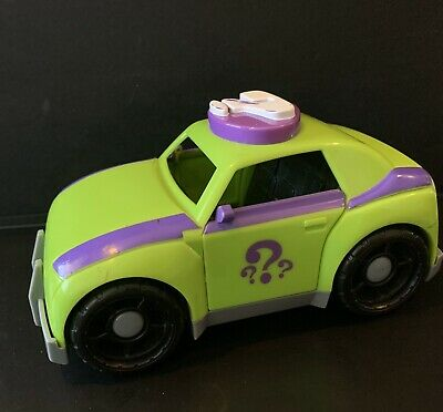 Fisher Price 2009 Imaginext Batman Riddler Green Purple Toy Car Question Mark