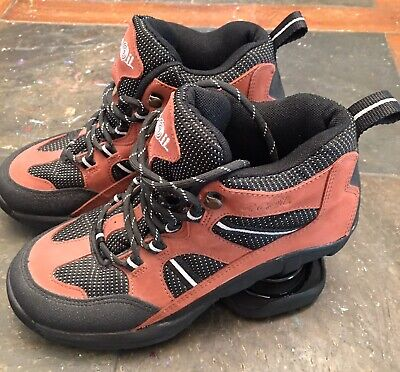 Women's Z coil spring leather hiking boots shoes sneakers size W 7.0.