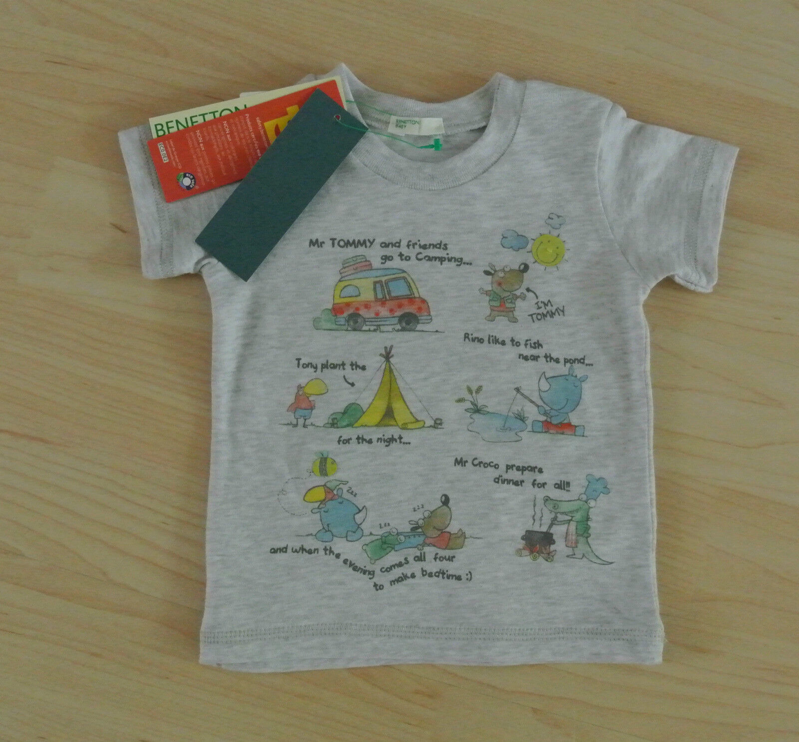 🌟✨ Benetton Baby T-Shirt für Jungs Gr.56-62 cm 🌟✨