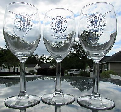 Usaf Chiefs Ball Wine Glass Set   Andrews Afb Chiefs Group National Capital