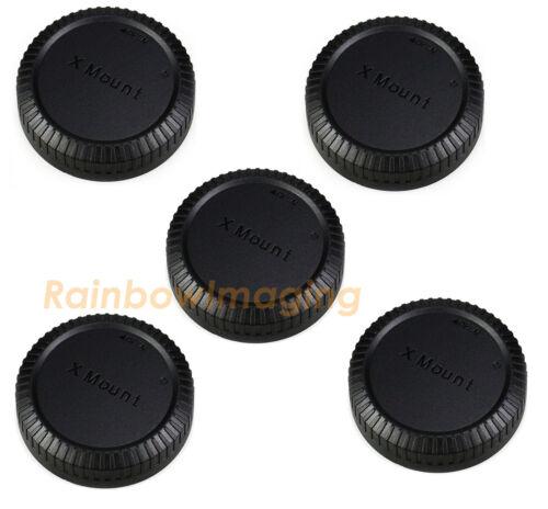 "(5 Pack) Lens Rear Caps Dust Sensor Covers Fuji Fujifilm X Mount ""USA Seller"""