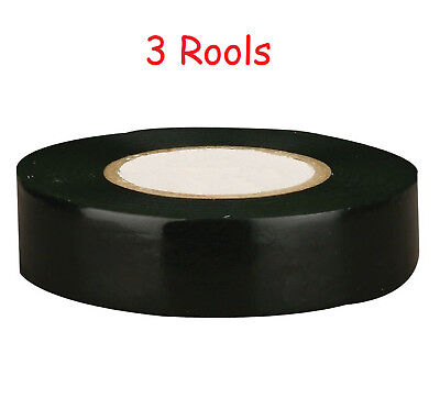 3 Rool 70ft General Purpose 0.7 Inch Vinyl Pvc Black Insulated Electrical Tape