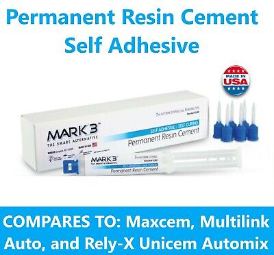 Permanent Resin Cement Self Adhesive 7 Ml Automix Syringe With 6 Tips - Mark3