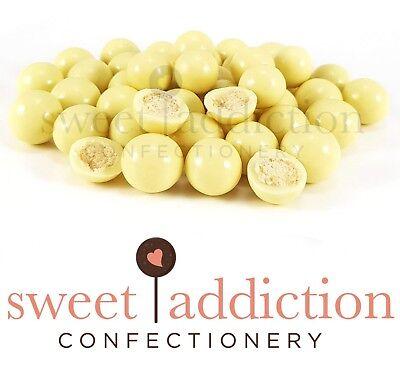 1kg Premium White Chocolate Malt Balls - Bulk Candy Buffet AUSTRALIAN - Chocolate Candy Buffet