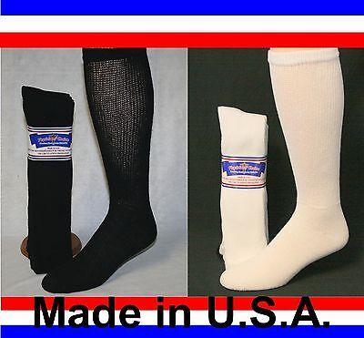 Men's Women Over the Calf Cushioned Diabetic Socks Sizes 3, 6 or 12 Pair  Over The Calf Socks