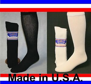 Mens-Women-Over-the-Calf-Cushioned-Diabetic-Socks-Sizes-3-6-or-12-Pair