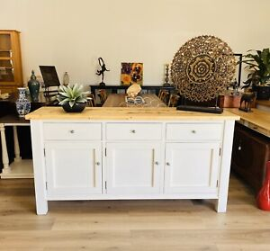 Rustic Pine and White Buffet