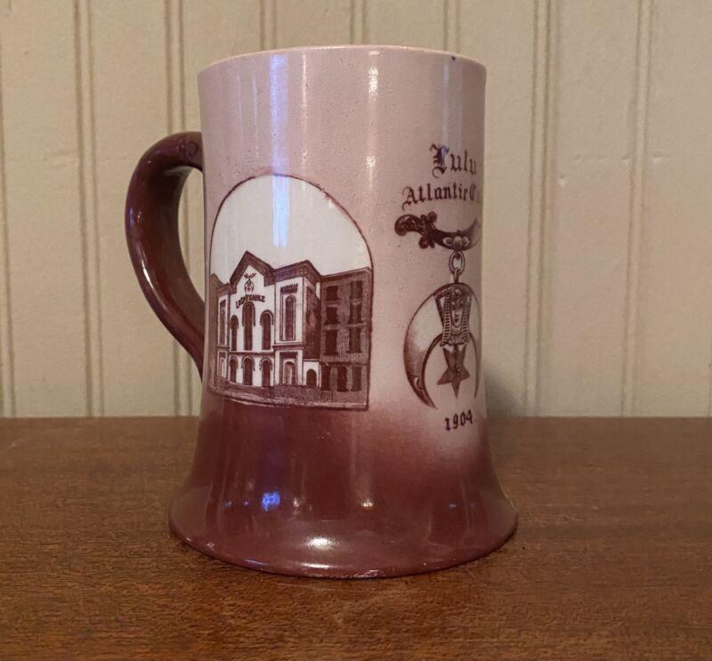 Thos Maddock Sons Co Trenton NJ Lulu Atlantic City 1904 Mug Vintage Mason