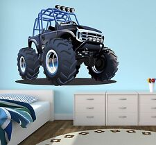 Monster Truck Wall Decal Boys Bedroom Art Decor Playroom ...