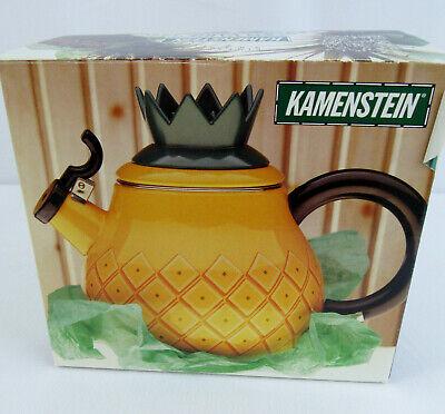 Vintage M. KAMENSTEIN Pineapple Tea Kettle Teapot Garden Varieteas Yellow RARE