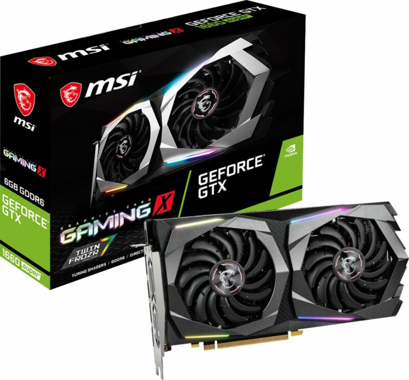 MSI - GAMING X NVIDIA GeForce GTX 1660 SUPER 6GB GDDR6 PCI Express 3.0 Graphi...