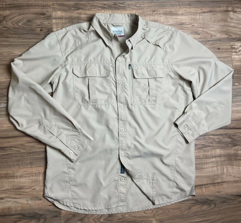 PACIFIC TRAIL Sharing the Outdoors Shirt Men's Large Long Sleeve Hiking