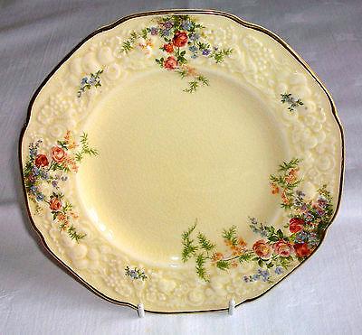 "Antique Crown Ducal Florentine ""Rosalie"" Embossed 7"" Side Plate"