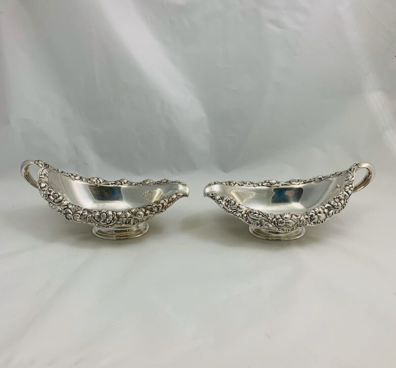 Authentic Tiffany & Co. Sterling Silver Pair Sauce Boats