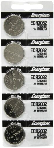Energizer CR2032 3 Volt Lithium Coin Battery (pack of 5) Brand New In Original