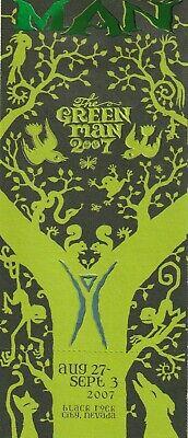 Burning Man Ticket 2007 The Green Man Complete Unused Beautiful Full Example