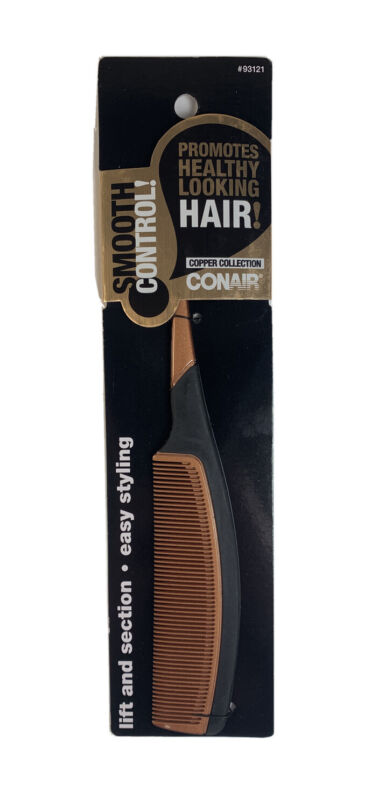 Conair Smooth Control Copper Collection Rat Tail Comb