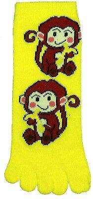 (Monkey (TK009) Kid Toe Socks New Gift Fun Unique Cute )