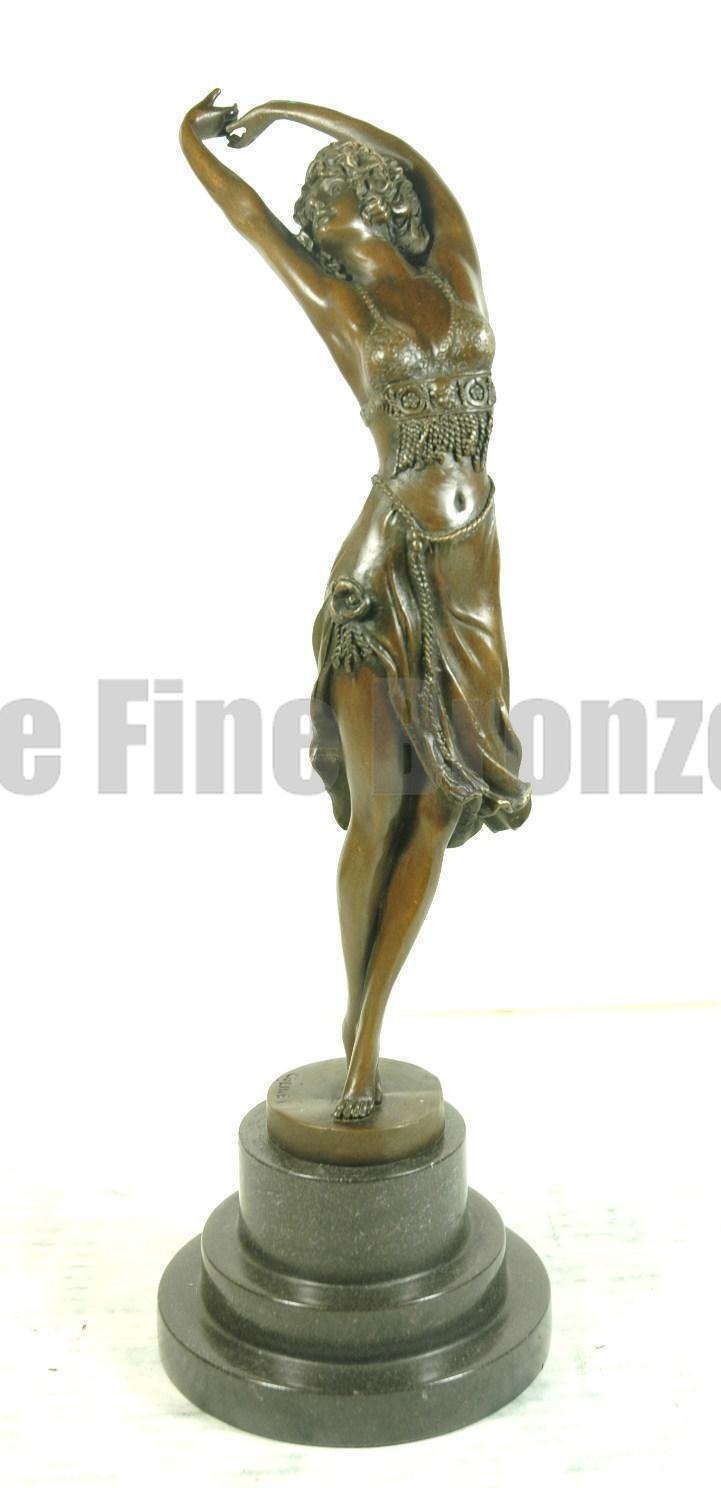 bronze sculpture art deco girl crimean dancer statue signed colinet picclick uk. Black Bedroom Furniture Sets. Home Design Ideas