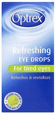 Optrex Refreshing Eye Drops for tired eyes 10ml Brand New FREEPOST