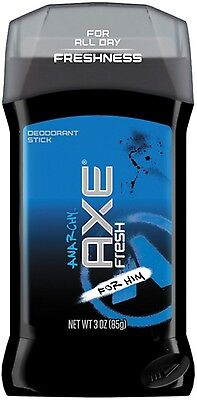 Axe Fresh 24 Hour Deodorant Stick  Anarchy 3 Oz  Pack Of 7