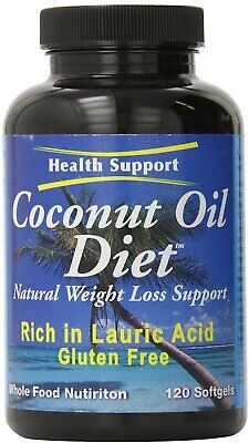 Coconut Oil Diet by Health Support, 120 softgels